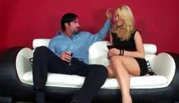 Natural blonde getting her charming anal poked with a stiff rod and is immersing it