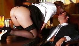 Prostitute on a table is scrumptious a kinky Mr.