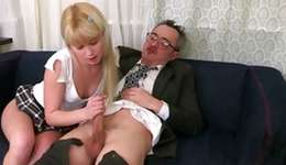 Blonde charming bitch is getting her screwed by a debauched sinful man