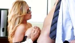 Spicy bright-haired beauty is fucked fiercely by a gentleman