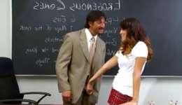 Interracial copulation  exquisite student and her teacher