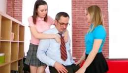 Two abdl sweetie coeds are getting their tender holes leaked deeply