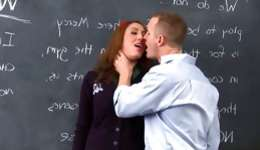 What a stunning and lewd gal sucking long stick of her professor